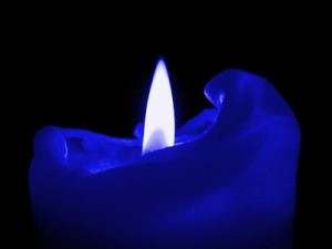 blue candle
