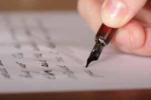 writing a letter ink