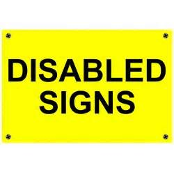 Disbaled Signs