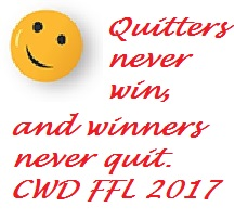 CWD Smile Face quitters winners
